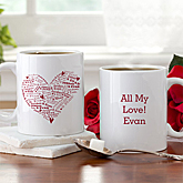 Heart of Love Personalized Coffee Mug