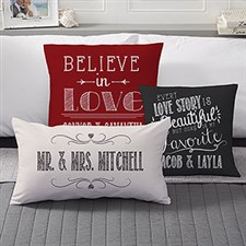 Love Quotes Personalized Throw Pillows