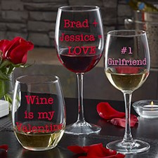 Sweet Drinks Personalized Wine Glass Collection