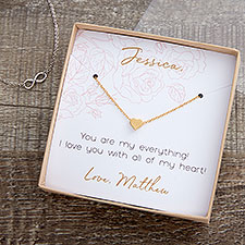 Classic Romance Necklace With Personalized Message Card