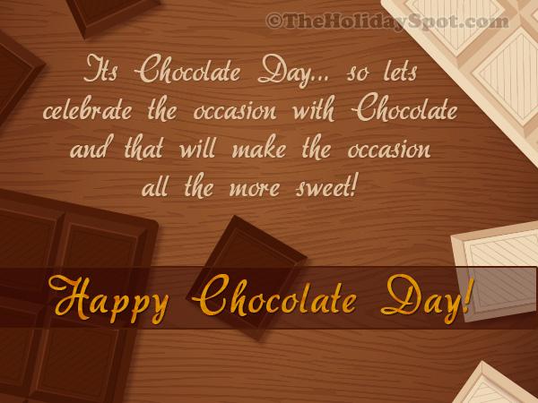 Chocolate Day Greeting Card