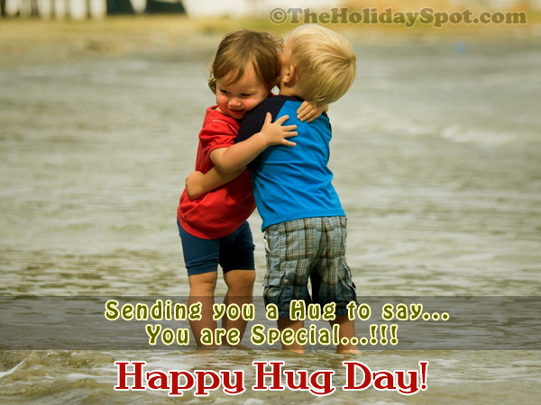 Hug Day Greeting Card