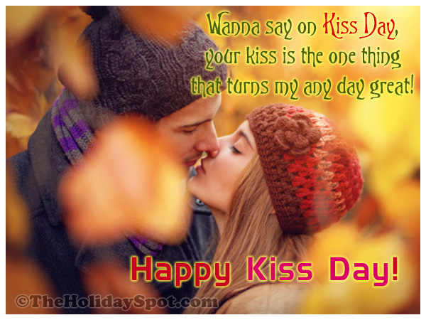 Kiss Card to share