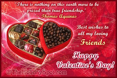 Best Valentine wishes card for loving friends