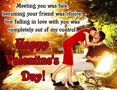Happy Valentine's Day wishes card for Mobile