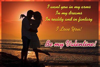 Greeting card - Be my Valentine