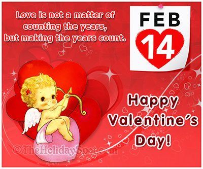 Valentines day greeting cards love cards happy valentines day love is not a matter of counting years m4hsunfo Images