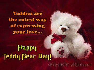 Teddy Bear Day Card for WhatsApp