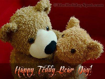 Teddy Bear Day Greeting Card for WhatsApp