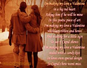 Romantic Poem card - I'm making my love a Valentine