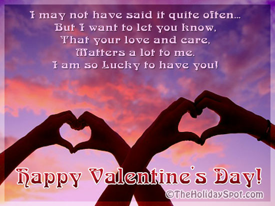 Valentines day greeting cards love cards happy valentines day greeting card showing love sign m4hsunfo Images