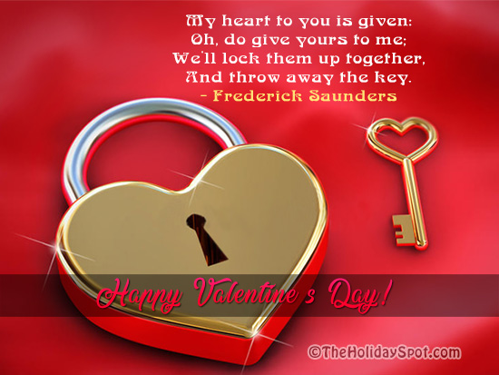 Valentines day greeting cards love cards well lock our heart together and throw away the key m4hsunfo