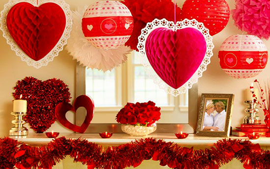 Valentine 39 s day party ideas roamntic ideas for valentine - Valentine day room decoration ...