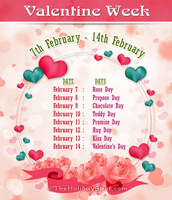 date list of valentine week 2019