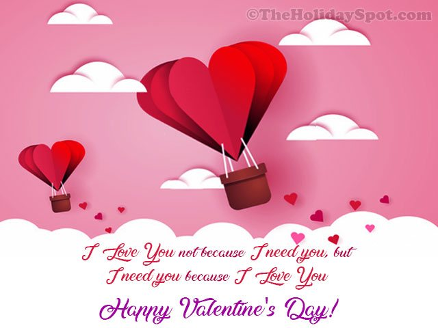Valentine's Day greeting card for WhatsApp and Facebook