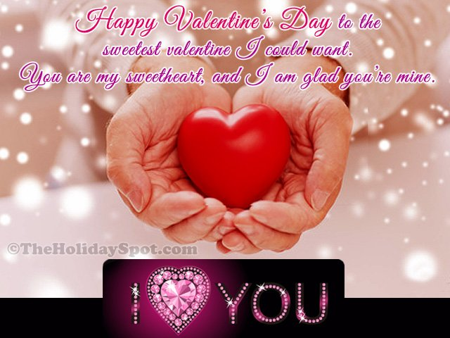 Happy Valentine's Day wishes card for WhatsApp