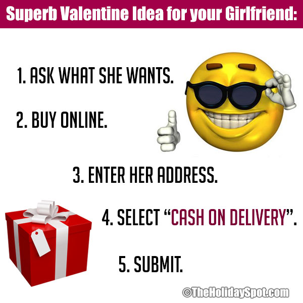 Valentines Day jokes on superb gift idea for girlfriend
