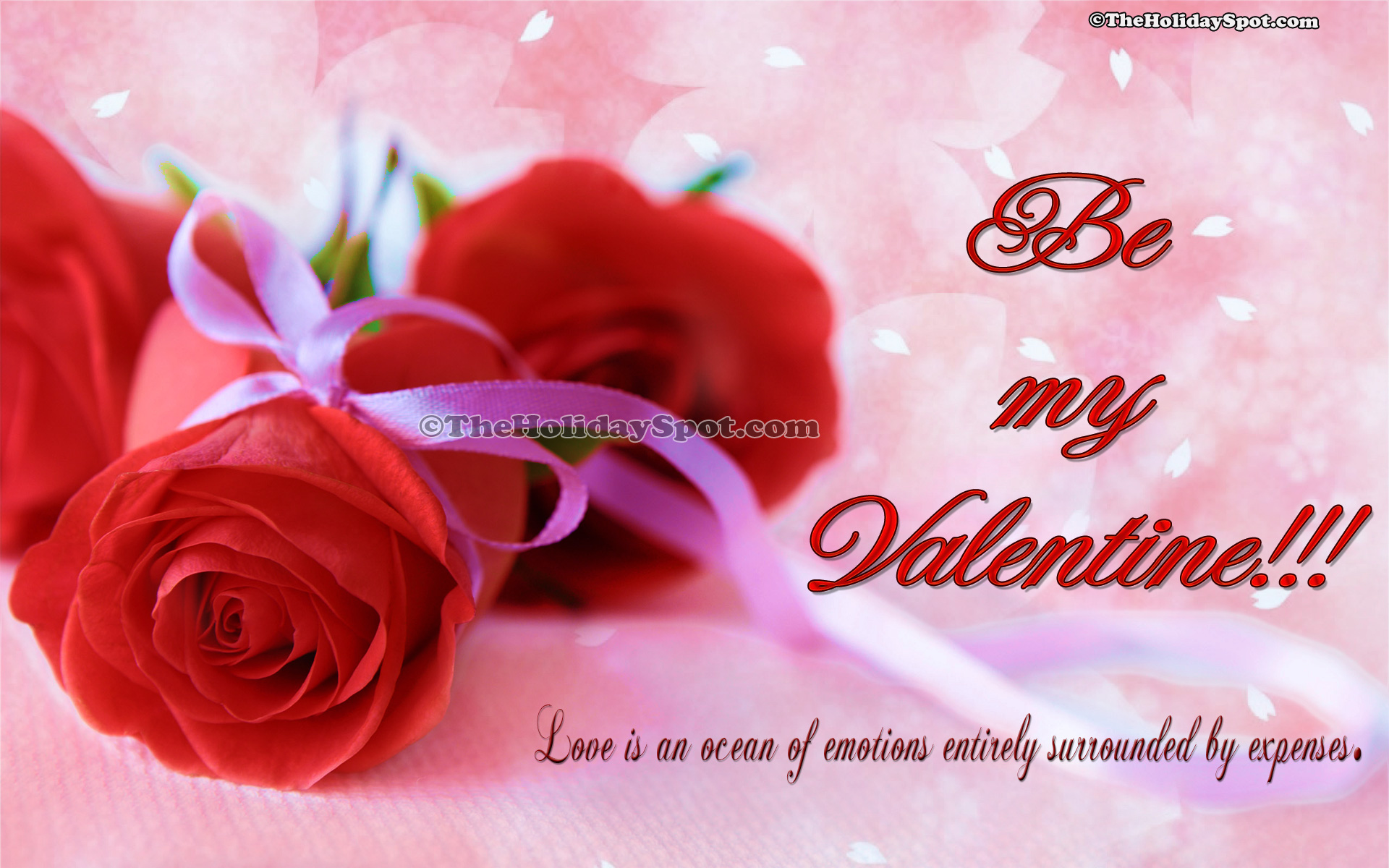 HD Valentines Day Wallpapers Of Two Red Roses