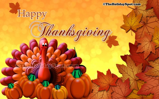 Happy thanksgiving wallpapers from theholidayspot - Thanksgiving moving wallpaper ...