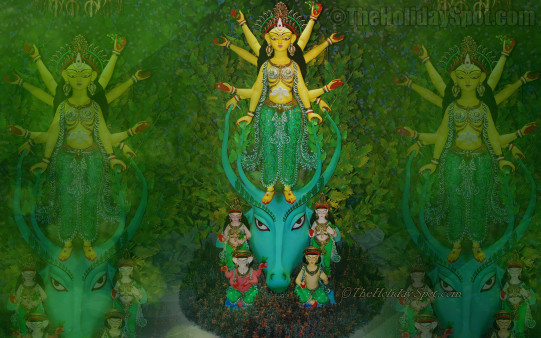 Beauty Of Goddess Durga Wallpapers From Theholidayspot