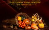 Thankful for something