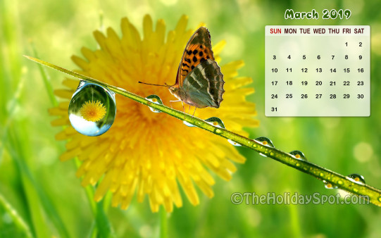 Calendar Wallpaper  March 2019  Wallpapers from TheHolidaySpot