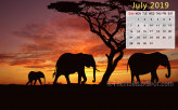 Calendar Wallpaper - July 2019