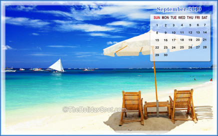 September 2019 Calendar Wallpaper 480x272