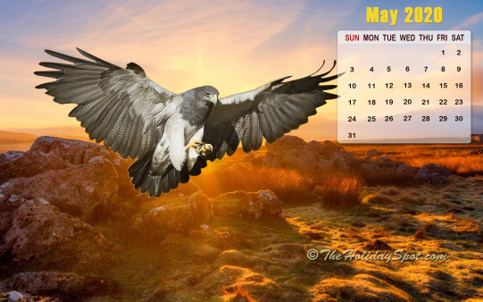 Calendar Wallpaper - May 2020 - Wallpapers from TheHolidaySpot