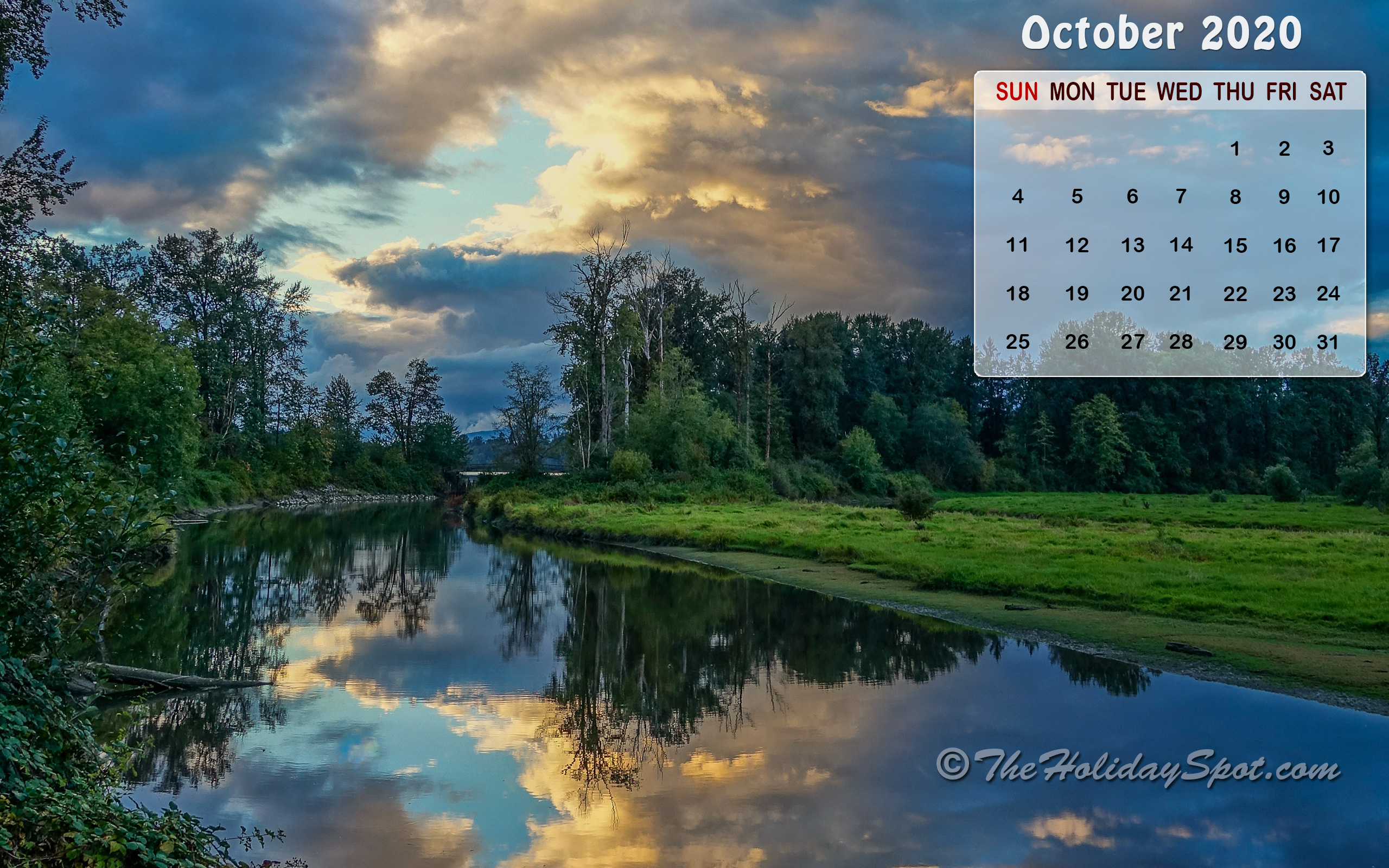 Calendar Wallpaper October 2020 Wallpapers From Theholidayspot